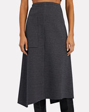 Camille Checked Origami Midi Skirt, BLACK/GREY, hi-res
