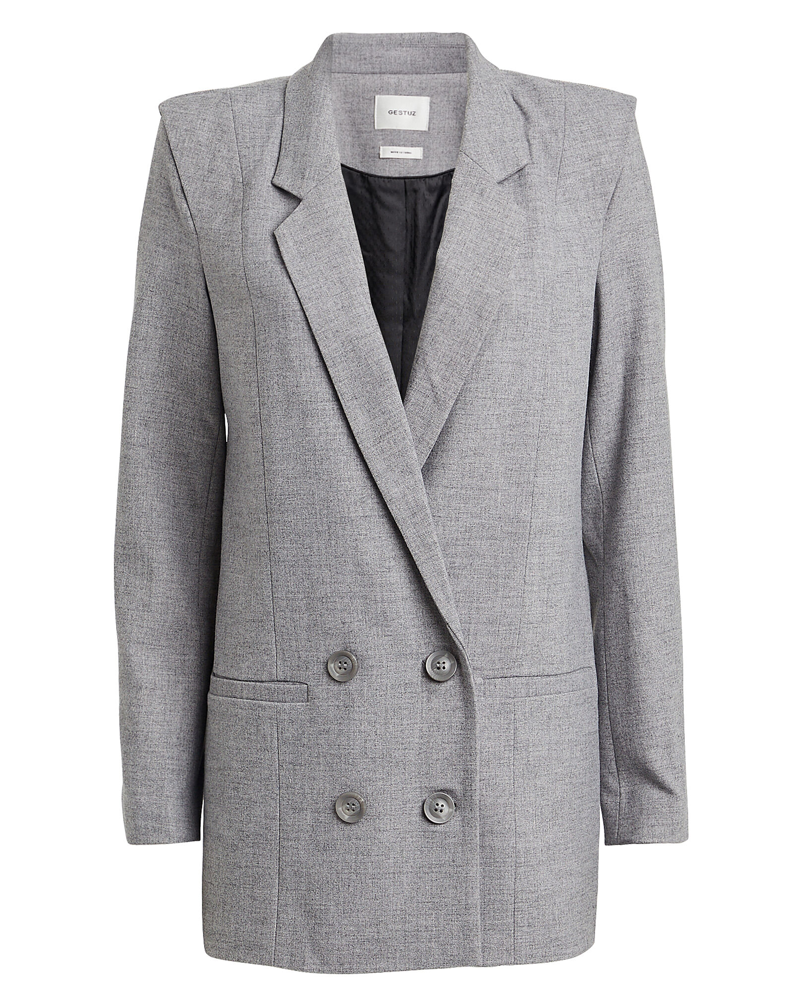 Shadi Double Breasted Blazer, GREY, hi-res