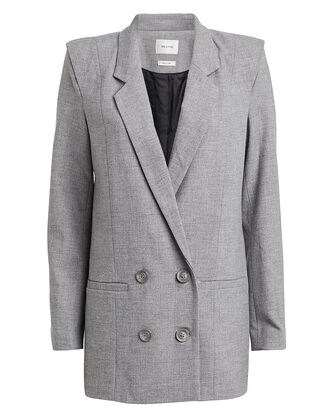 ShadiGZ Double Breasted Blazer, GREY MELANGE, hi-res
