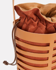 Erin Brown Leather Cutout Bag, BROWN/ORANGE, hi-res