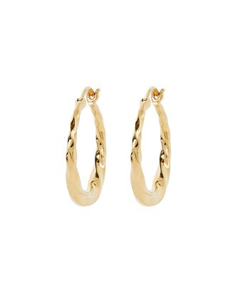 Sadie 19 Twisted Hoop Earrings, GOLD, hi-res