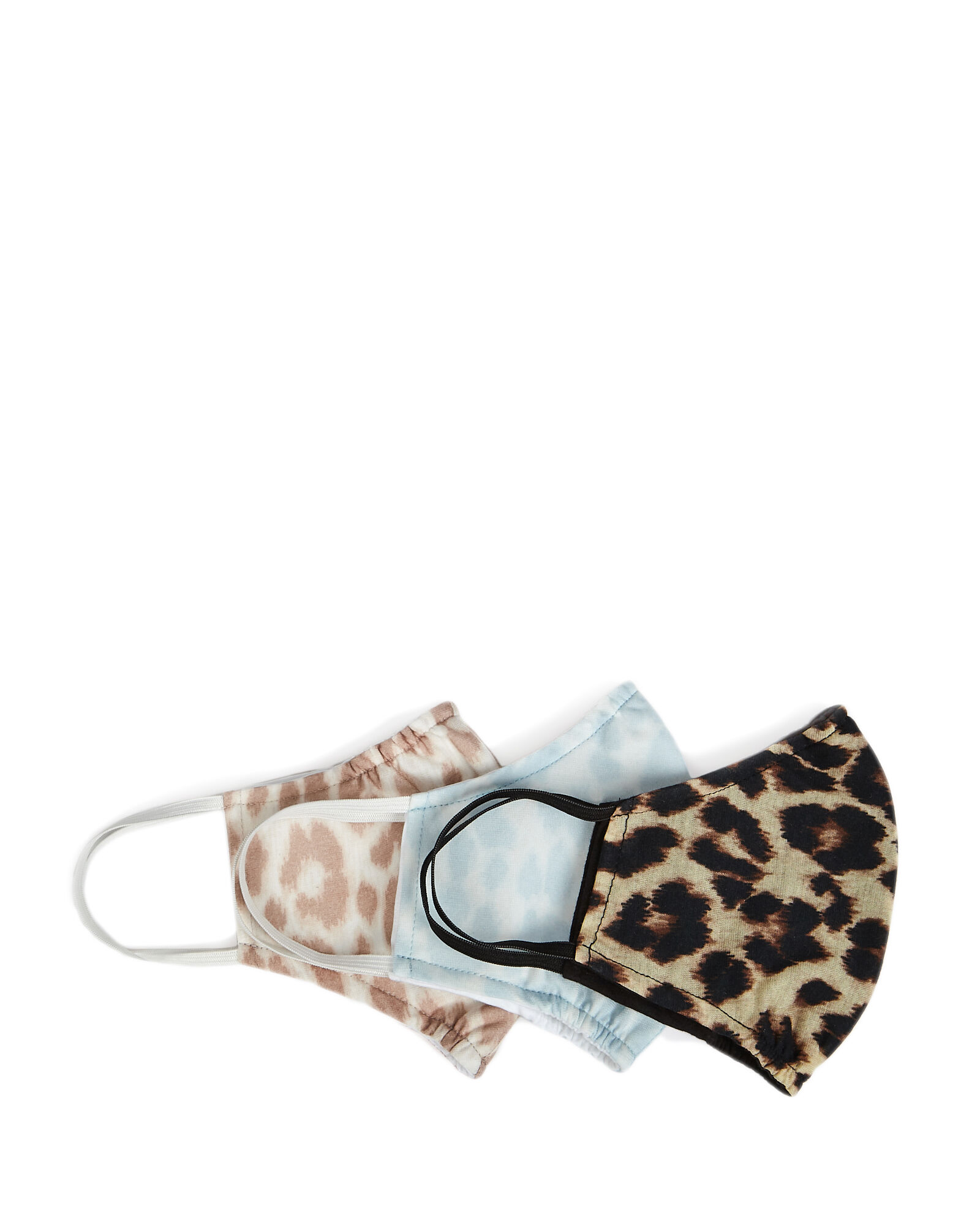 Leopard Printed Face Mask 3-Pack, MULTI, hi-res