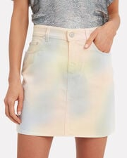 Colorwashed Denim Mini Skirt, MULTI, hi-res