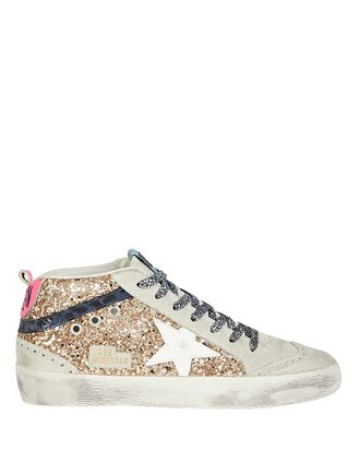 Mid Star Glitter Sneakers, GOLD, hi-res