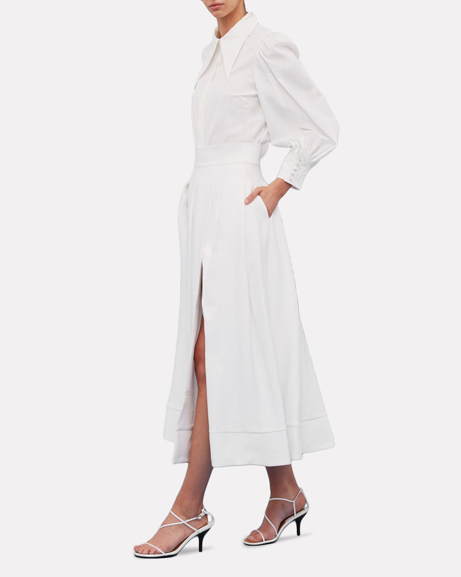 Still Feel Pleated Midi Skirt, IVORY, hi-res