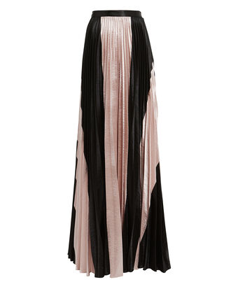 Oliana Pleated Skirt, PINK/BLACK, hi-res
