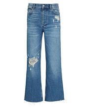 Mikey Distressed Straight-Leg Jeans, SHORT CIRCUIT, hi-res