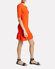 Vance Rib Knit Mini Dress, ORANGE, hi-res