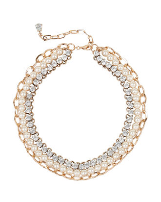 Triple Layered Necklace, MULTI, hi-res