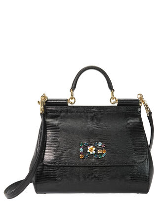 Sicily Medium Shoulder Bag, BLACK, hi-res