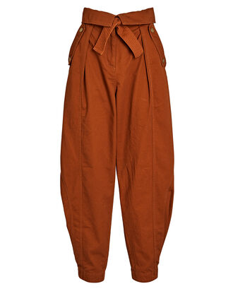Rowen Tapered High-Rise Pants, BROWN, hi-res