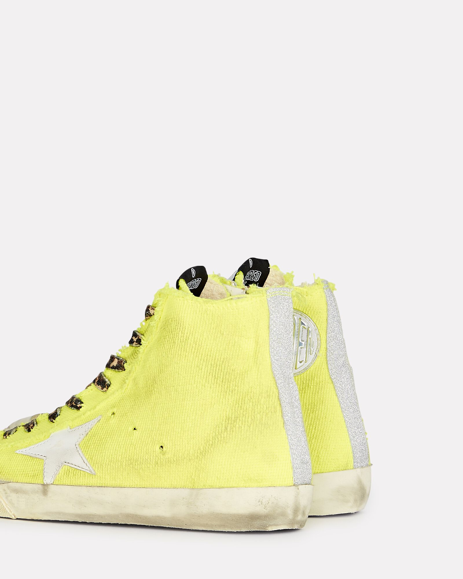 Francy Canvas High-Top Sneakers, YELLOW, hi-res