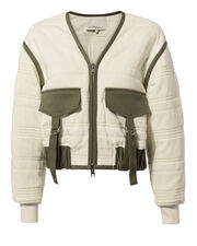 Quilted Utility Jacket, IVORY, hi-res