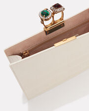 Double Ring Clutch, WHITE, hi-res