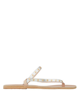 Mirsini Studded Leather Sandals, SILVER/GOLD, hi-res