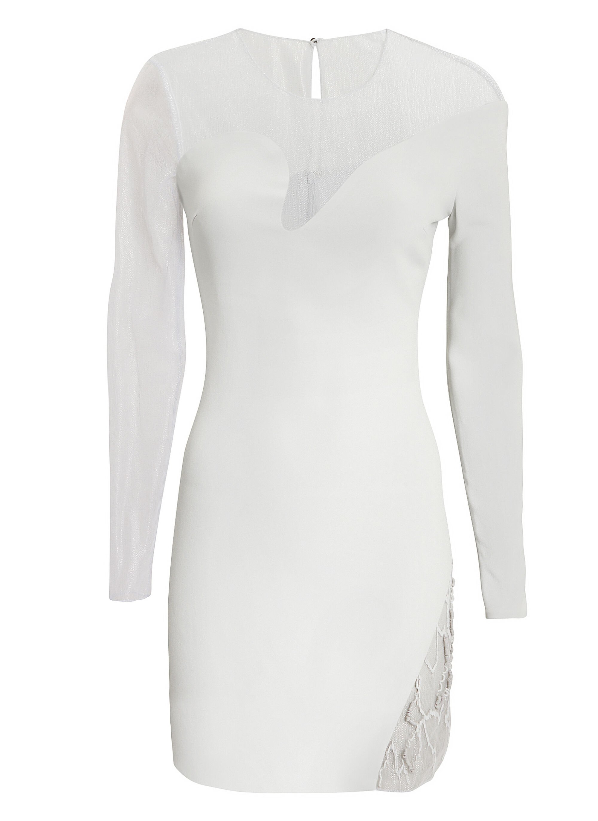 Fragmented Curve Dress, GREY-LT, hi-res