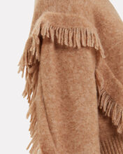 Fringe Wool-Blend Sweater, BEIGE, hi-res