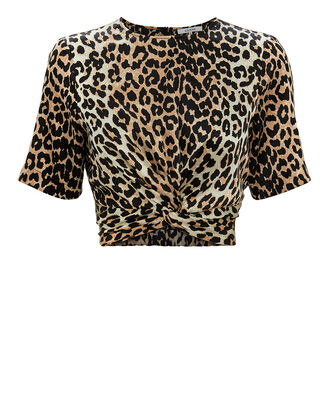 Leopard Twist Front Top, MULTI, hi-res