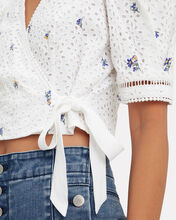 Angelia Eyelet Top, WHITE, hi-res