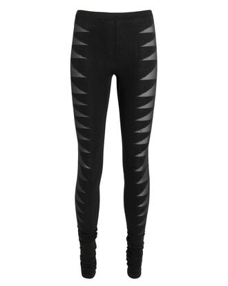 Cutout Leggings, BLACK, hi-res