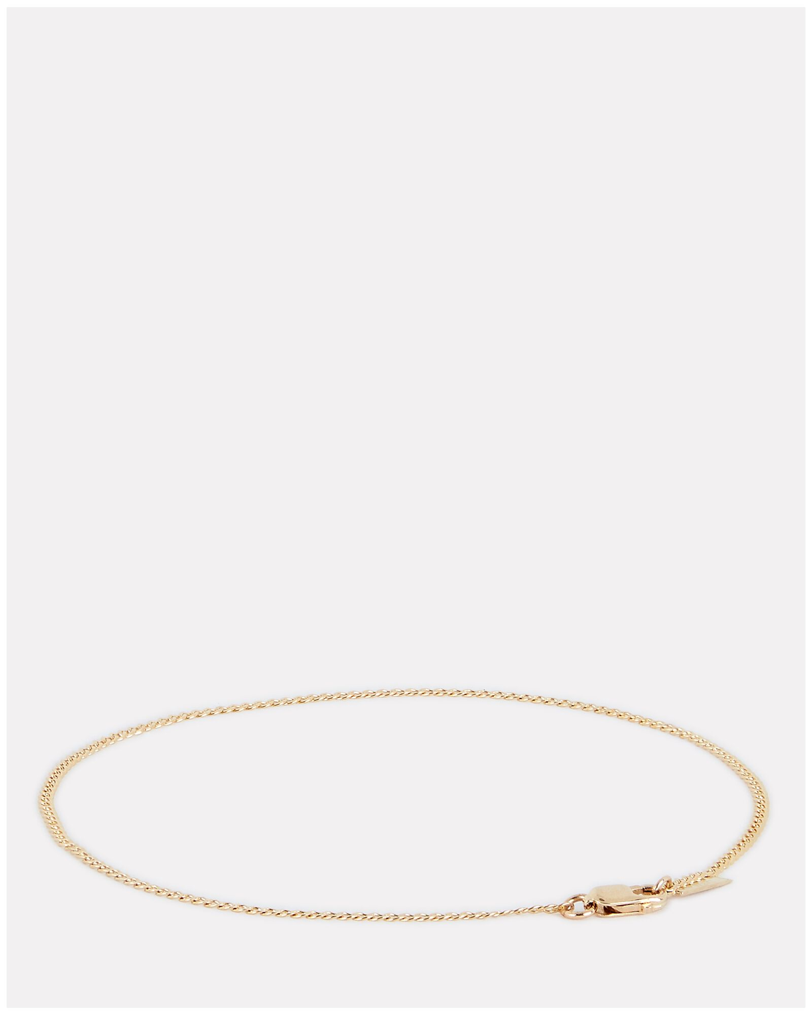 Dazzle Curb Chain Anklet, GOLD, hi-res