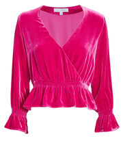 Dawn Velvet Top, PINK, hi-res