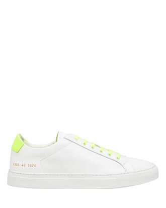 Retro Low-Top Sneakers, LIME GREEN/WHITE, hi-res