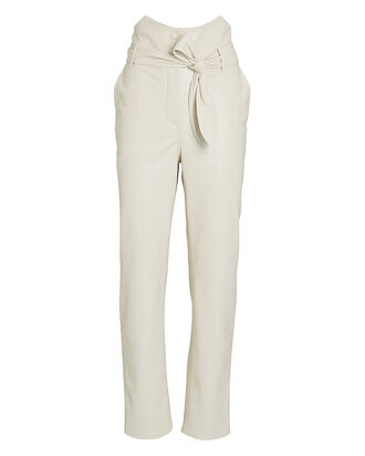 Ethan Vegan Leather Pants, IVORY, hi-res