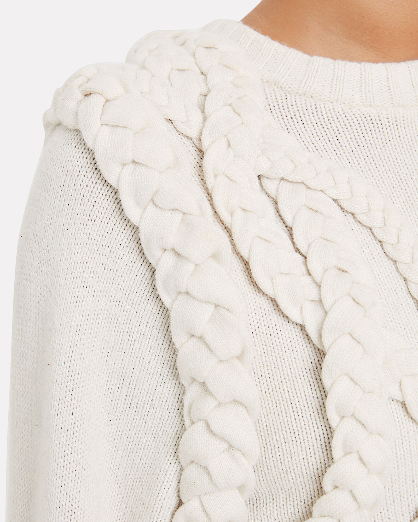 Yeva Cable Knit Sweater, IVORY, hi-res
