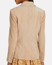 Kenzie Double-Breasted Suede Blazer, BLUSH, hi-res