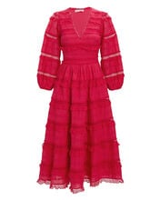 Charline Lace Midi Dress, PINK, hi-res