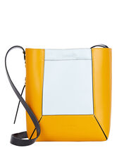 Nemo Small Colorblock Leather Bag, YELLOW/LIGHT BLUE, hi-res
