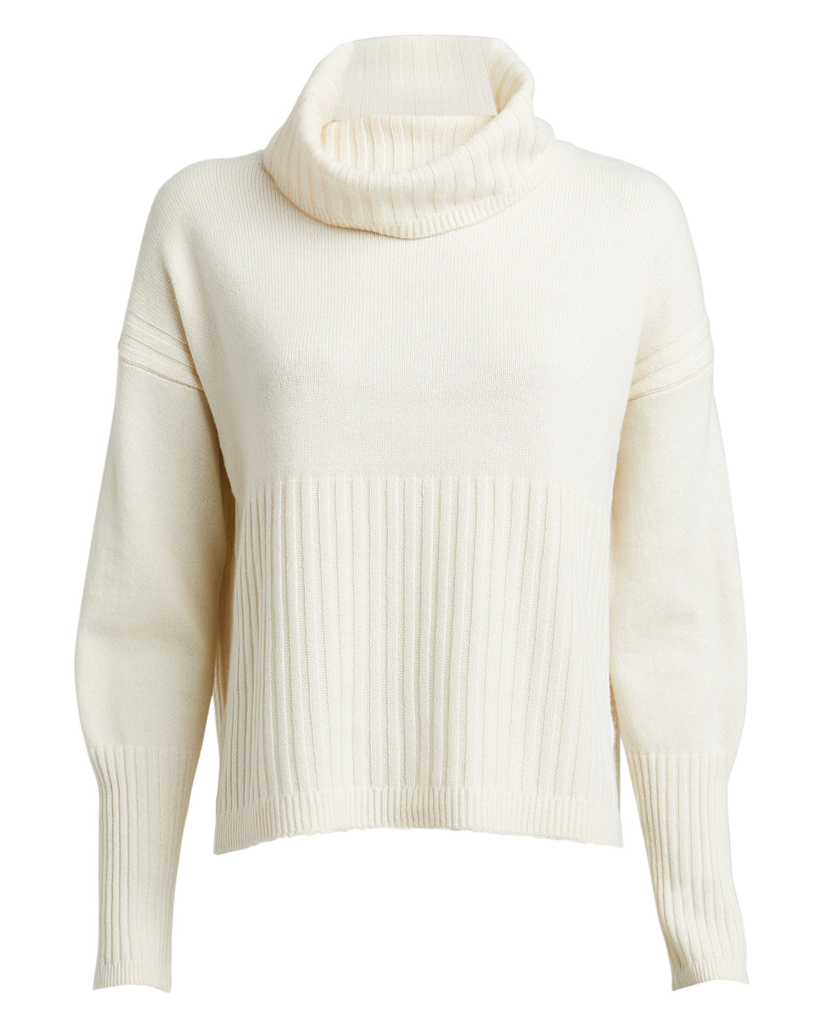 Bond Wool-Cashmere Turtleneck Sweater, IVORY, hi-res