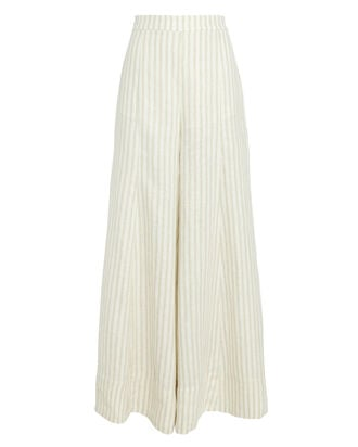 Kennedy Linen Palazzo Pants, BEIGE/IVORY, hi-res