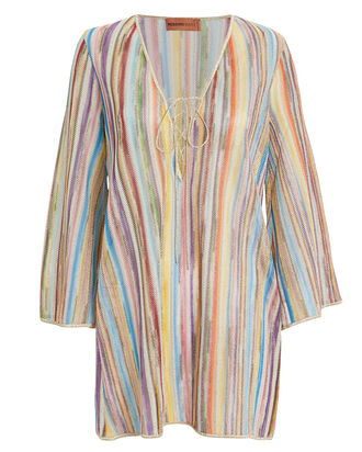 Rainbow Knit Cover-Up, RAINBOW/STRIPE, hi-res