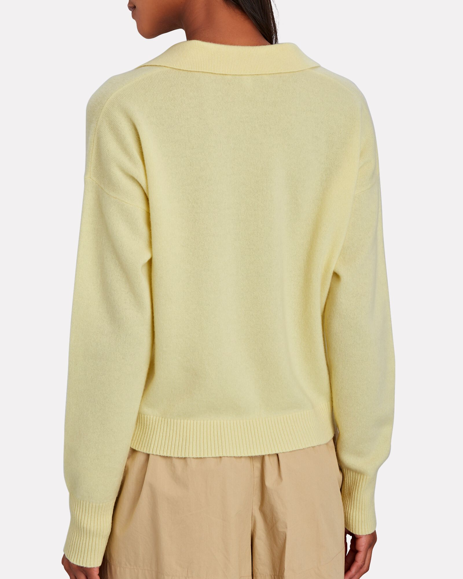 Hillary Cashmere Polo Sweater, YELLOW, hi-res