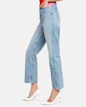 Colorblock Waist Jeans, PINK/RED/BLUE, hi-res