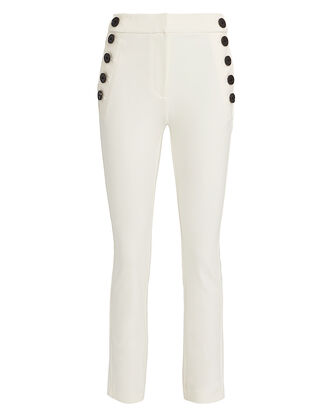 Cropped Sailor Pants, IVORY, hi-res