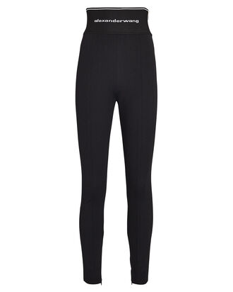 Logo High-Waist Leggings, BLACK, hi-res