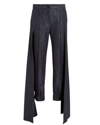 Jagger Lurex Pants, BLUE-DRK, hi-res