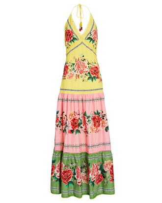 Manuela Floral Tiered Maxi Dress, YELLOW/PINK/GREEN, hi-res