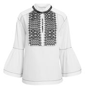 Lace Front White Top, WHITE, hi-res