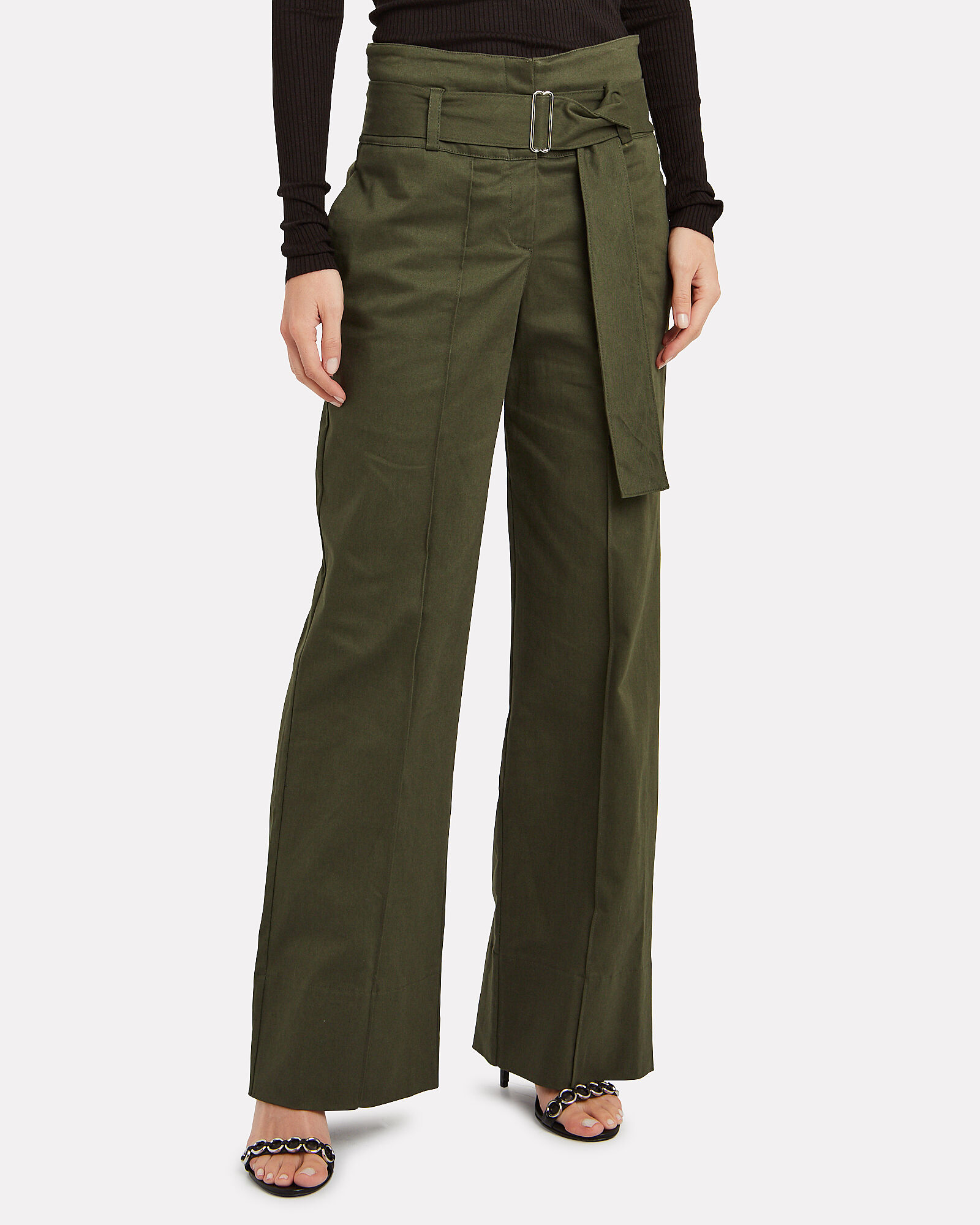 Belted Twill Utility Pant, OLIVE/ARMY, hi-res