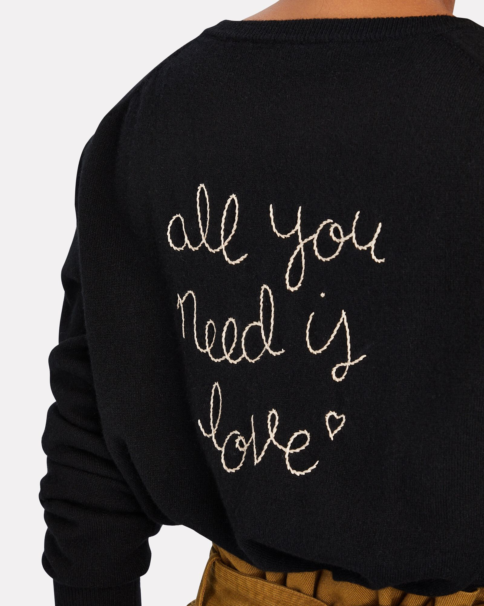 All You Need Is Love Cashmere Sweater, BLACK, hi-res