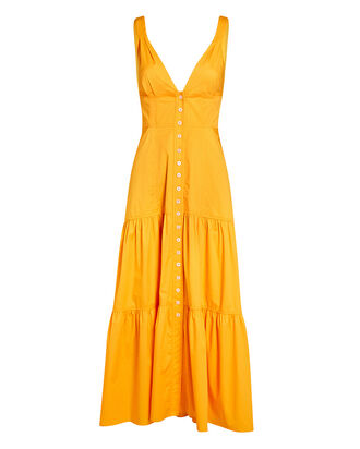 Jordyn Poplin Button-Down Midi Dress, , hi-res