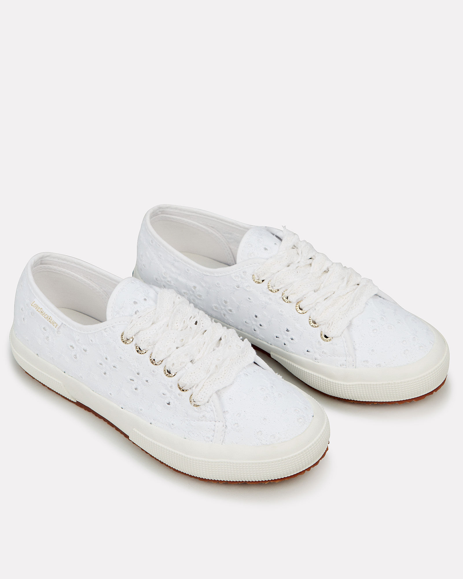Superga x LoveShackFancy 2750 Sangallow Sneakers, WHITE, hi-res