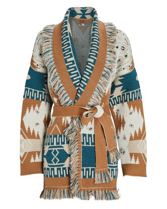 Icon Cashmere-Wool Wrap Cardigan, MULTI, hi-res