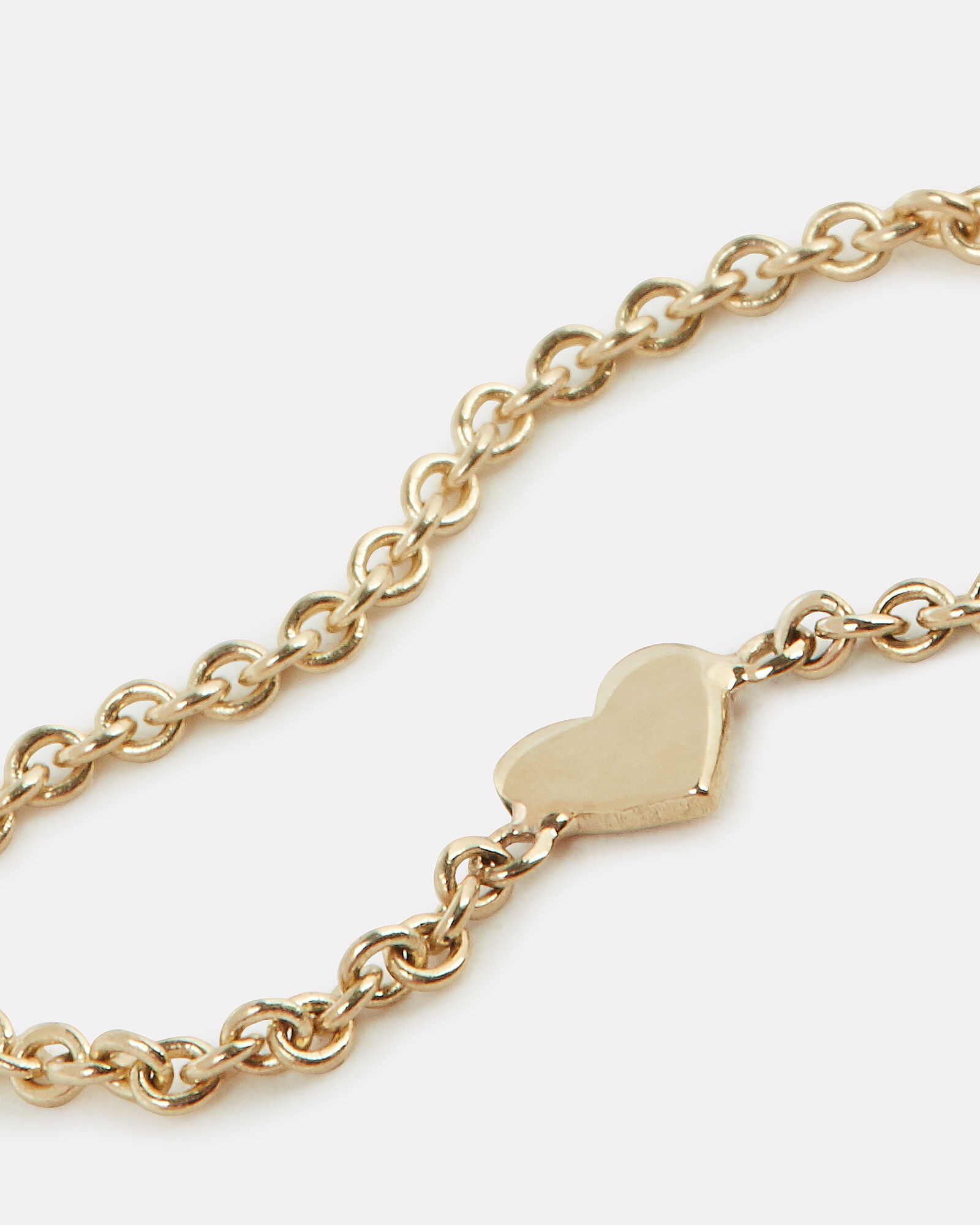 Itty Bitty Heart Chain Ring, GOLD, hi-res
