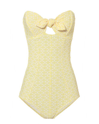 Poppy Yellow One Piece Swimsuit, YELLOW, hi-res