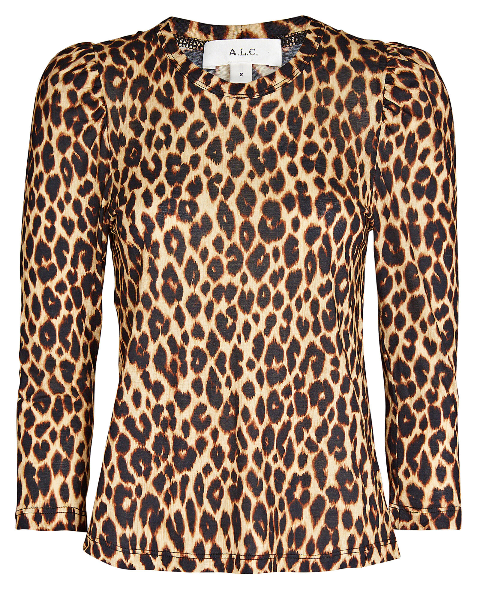 New Rixo London Leopard Print Jane Top In Blue Sz S